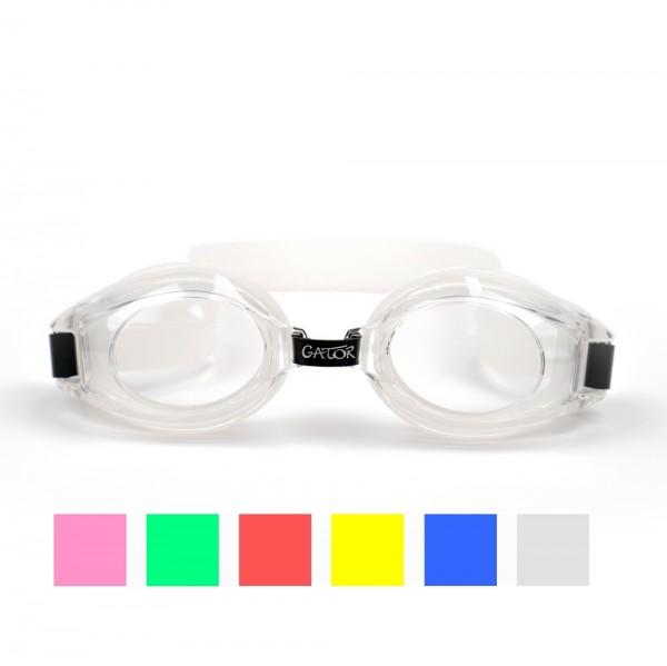 Schwimmbrillen für Kinder, transparente Gläser